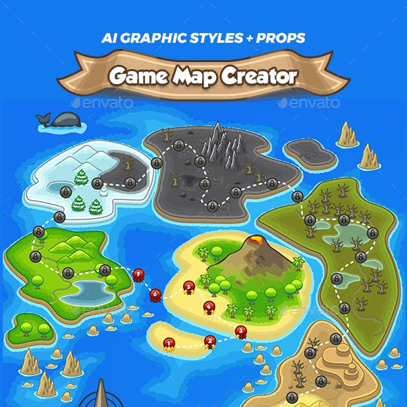 Game Map Maker - AI Graphic Styles and Props