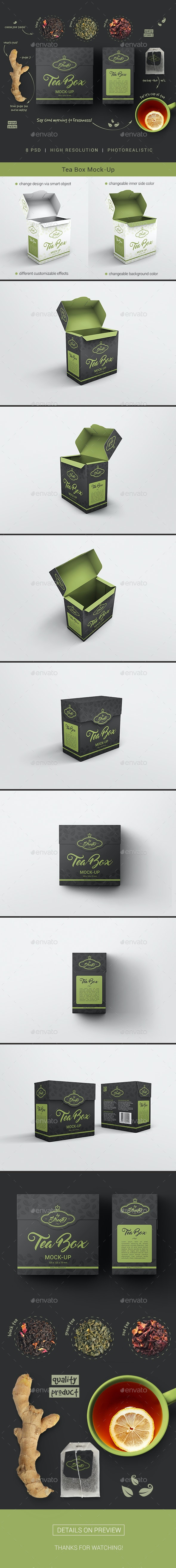 Tea Box Mock-Up - Food and Drink Packaging