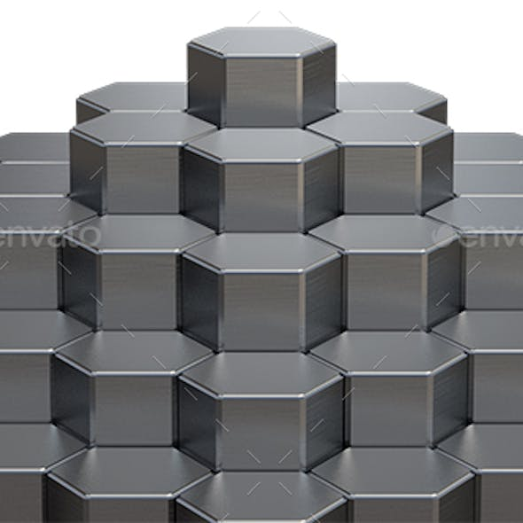 Abstract 3D Rendering of Metal Surface