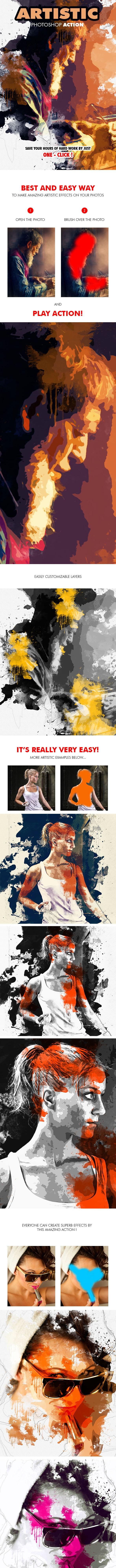 Artistic Photoshop Action - Photo Effects Actions