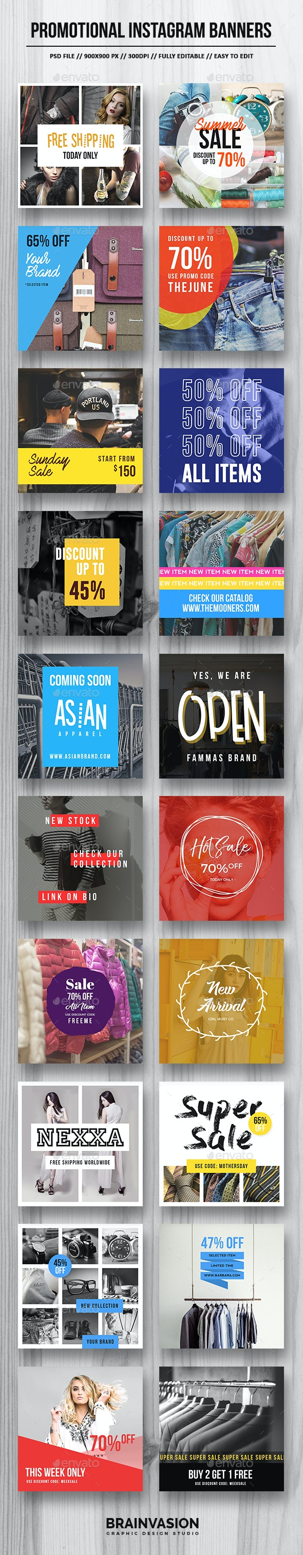 Promotional Instagram Banners - Miscellaneous Social Media