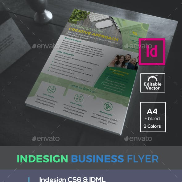 Indesign Business Flyer