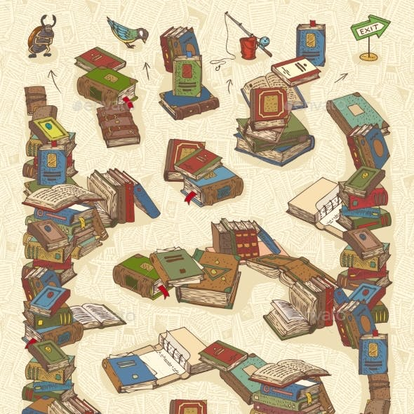 Maze Game with Books