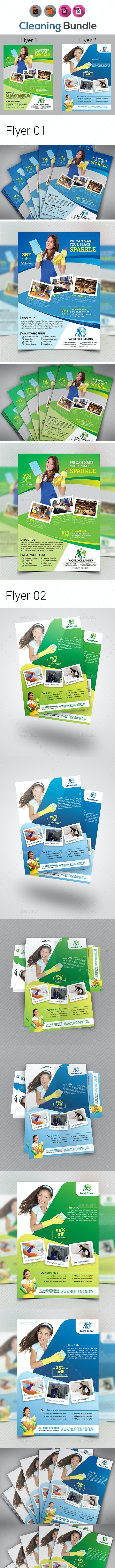Cleaning Flyer Bundle V2 - Flyers Print Templates