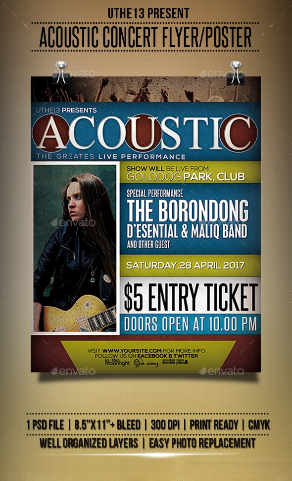 Acoustic Music Flyers / Poster - Events Flyers