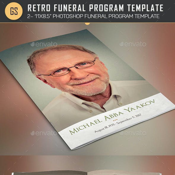 Nostalgia Funeral Program Template