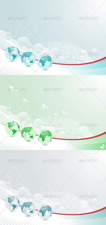 Globe Abstract Background Set - Backgrounds Decorative