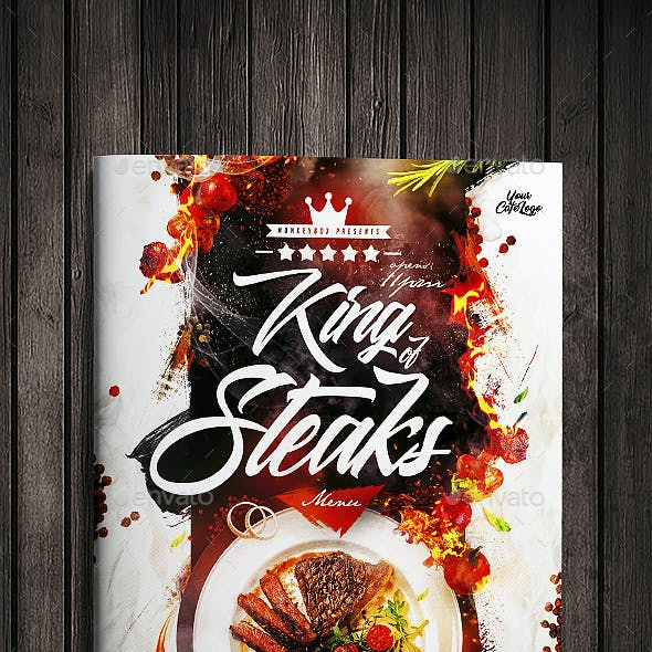 King Of Steaks Menu