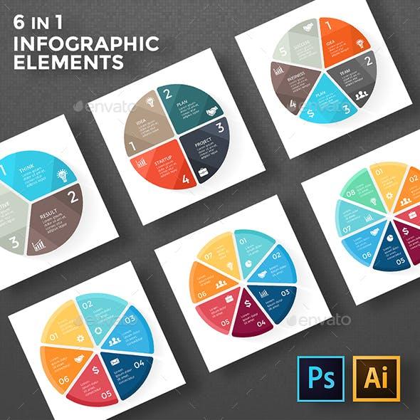 Circle Geometric Diagrams. PSD, EPS, AI.