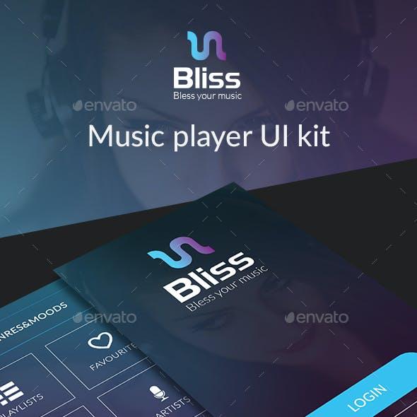 Bliss Mobile Ui Kit - Music player