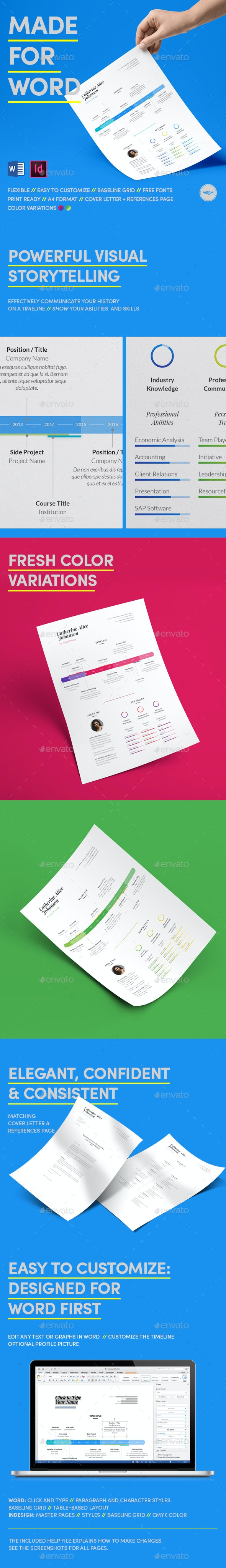 Infographic Resume Made for Word - Resumes Stationery