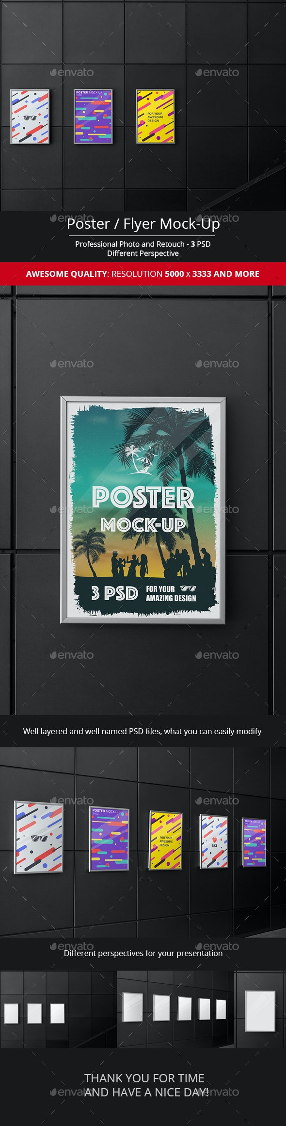 Poster / Flyer Mock-Up - Product Mock-Ups Graphics