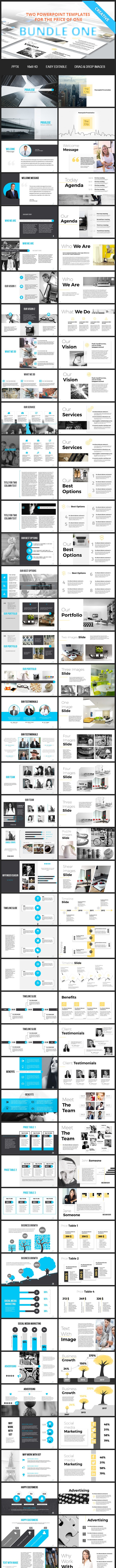 Bundle One - 2 Powerpoint Templates - PowerPoint Templates Presentation Templates