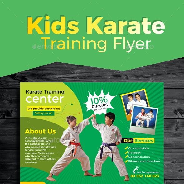 Kids Karate Training Flyer
