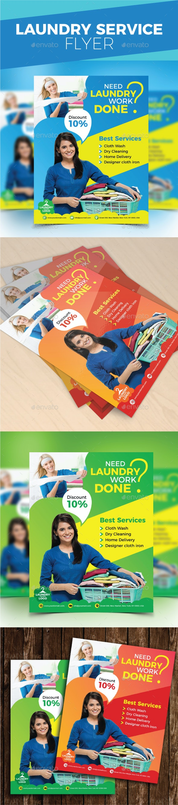 Laundry Service Flyer - Commerce Flyers