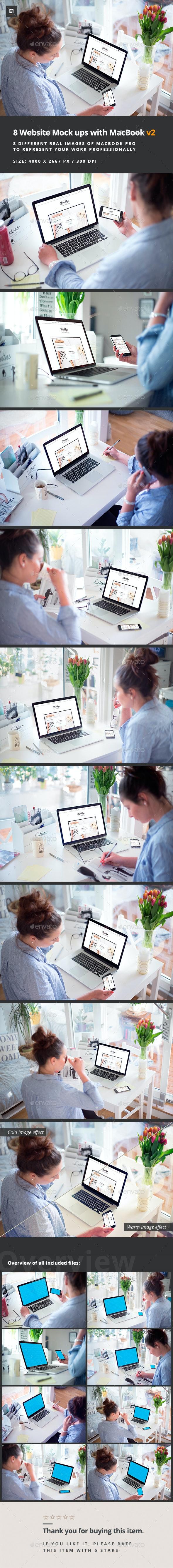 Photorealistic Website Mockup - Multiple Displays