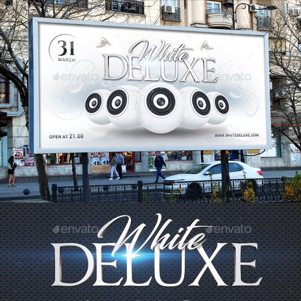 White Deluxe Outdoor Banner Template