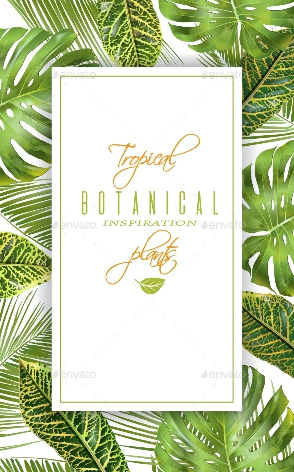 Tropical Vertical Banner - Flowers & Plants Nature