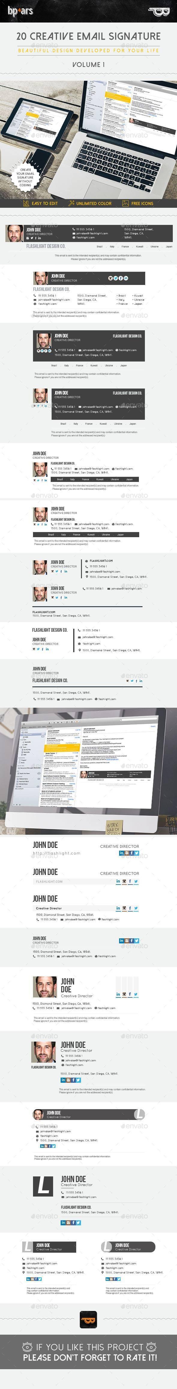 20 Email Signature - Miscellaneous Social Media