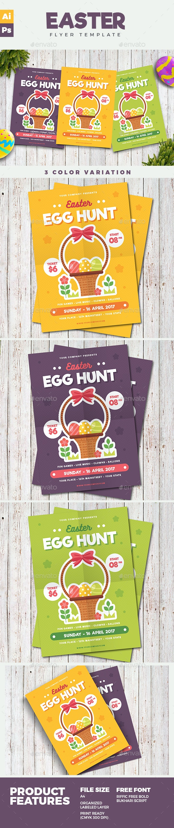 Easter Flyer - Holidays Events