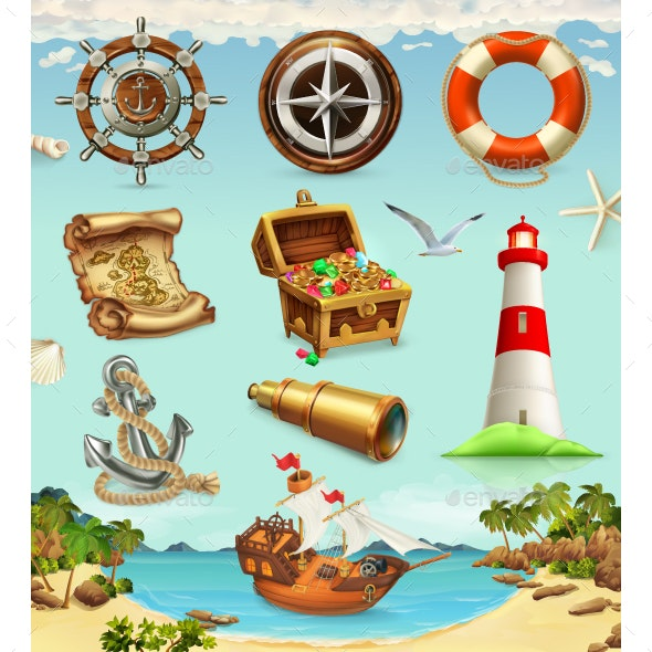 Marine Set - Miscellaneous Vectors