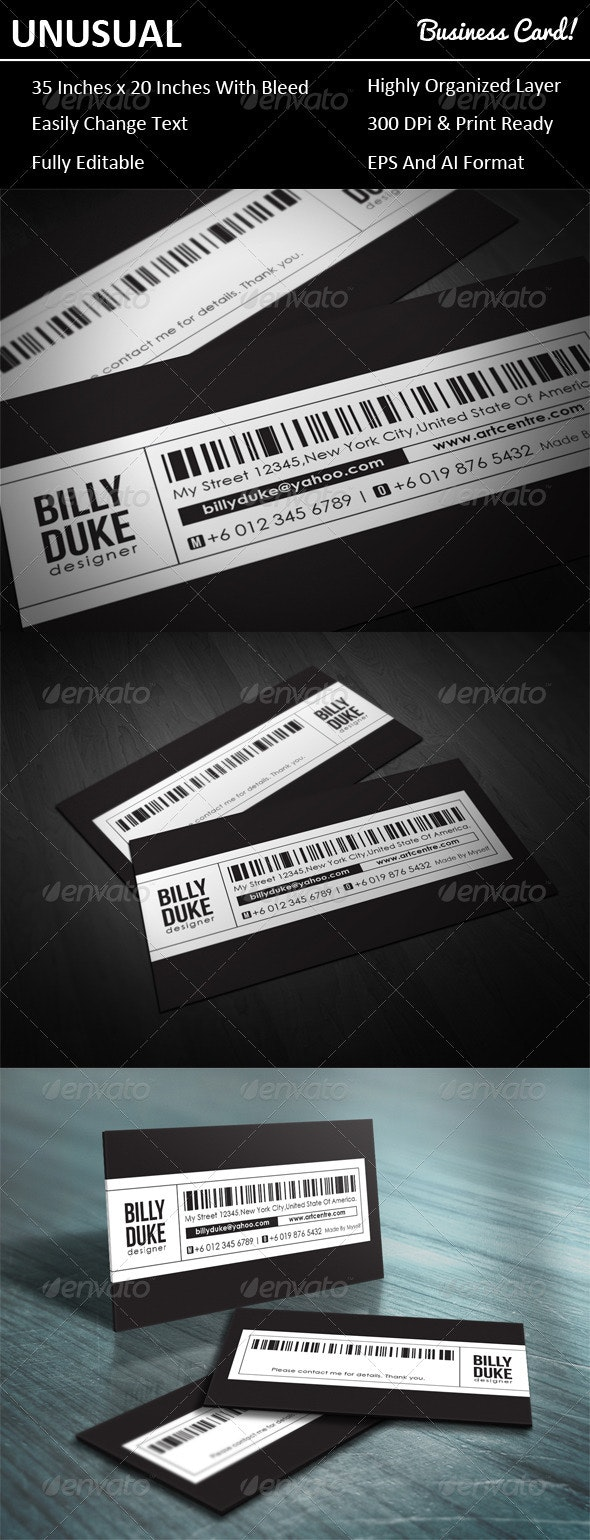 Unusual Business Card - Creative Business Cards