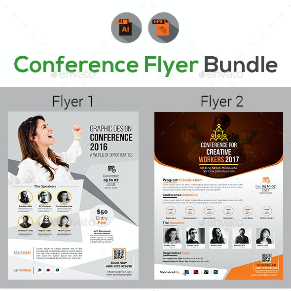 Event Summit Conference Flyers Bundle V2