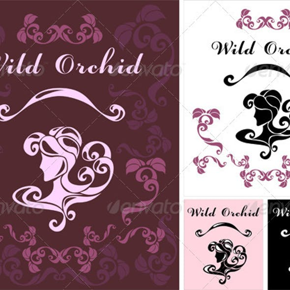 Wild Orchid logotype for perfumery or hair salon