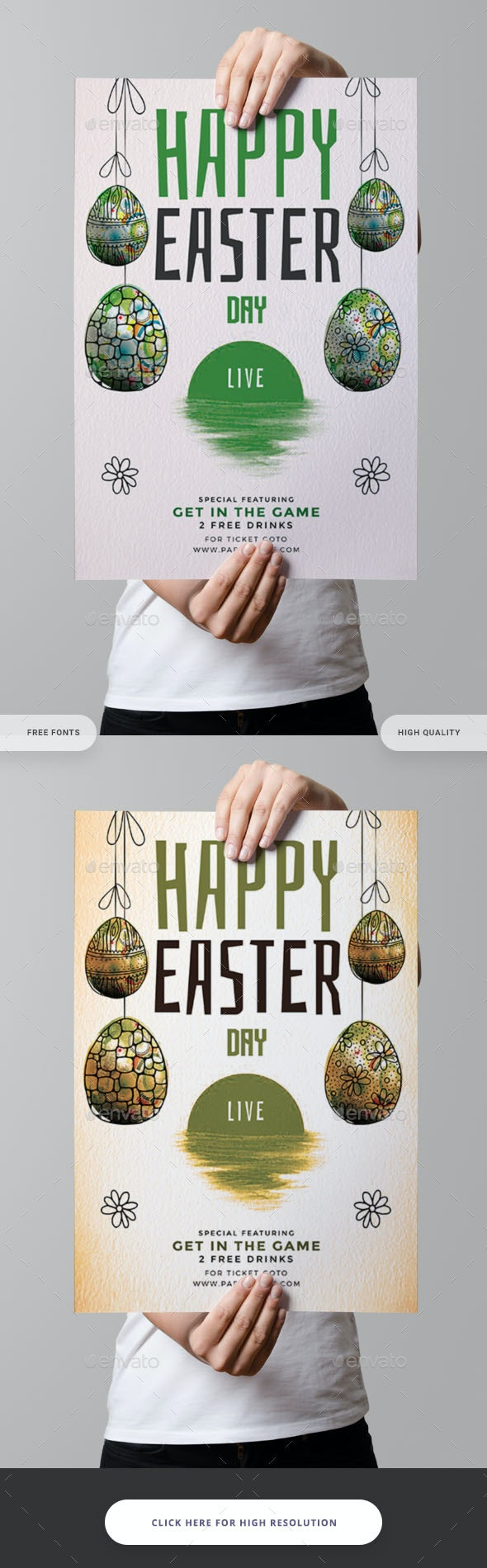 Happy Easter Day Flyer - Clubs & Parties Events