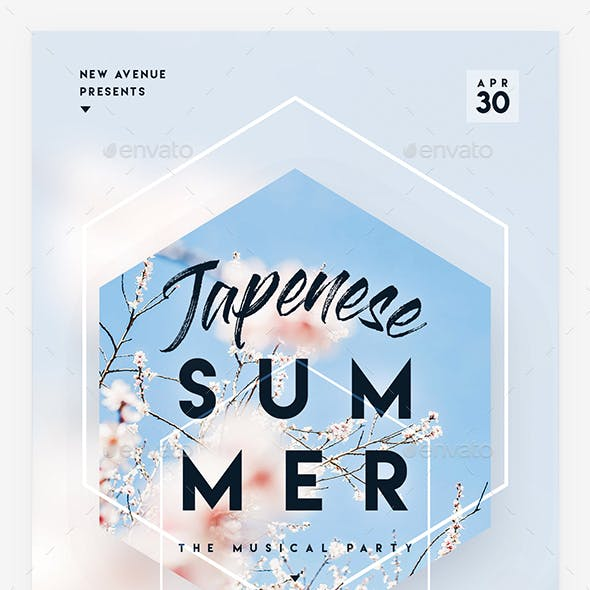 Japanese Summer Party Flyer