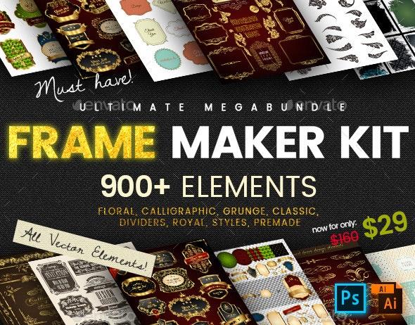 Frame Maker Kit | 900+ elements - Borders Decorative