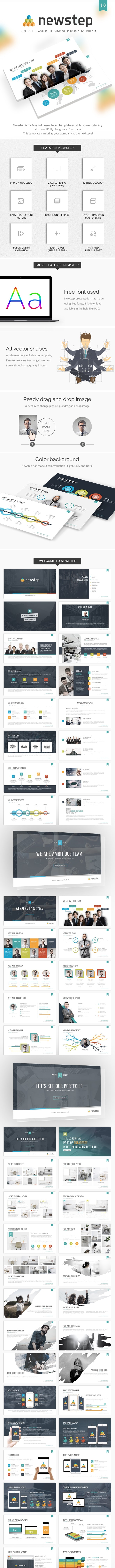 NEWSTEP - Next Step, Faster Step and Step to Realize Dream - PowerPoint Templates Presentation Templates