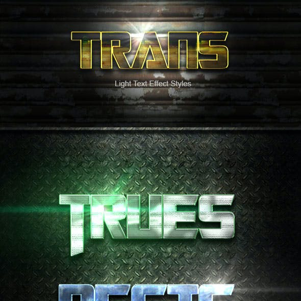 Trans Text Effect V19