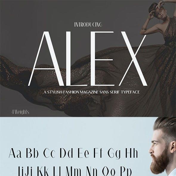 Alex Sans Serif Typeface