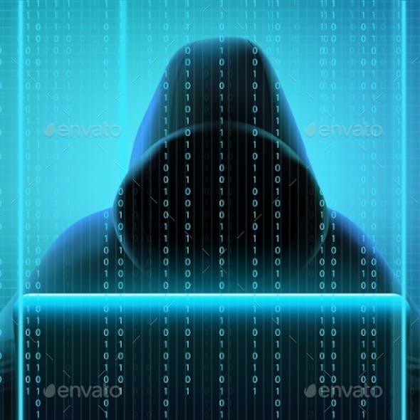 Hacker Code Realistic Composition