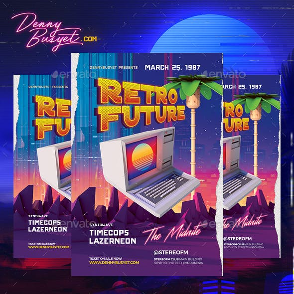 Retro Future Graphics, Designs & Templates from GraphicRiver