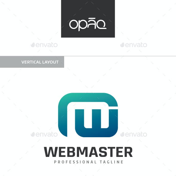 Webmaster W and M Letter Logo