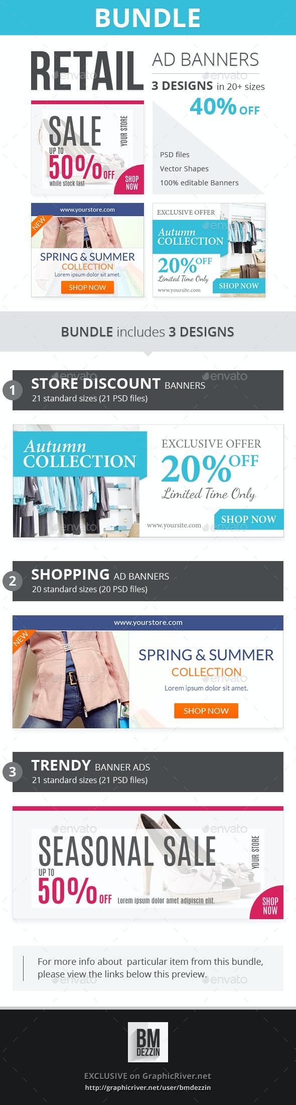 Retail Banner Ads - Bundle 3 - Banners & Ads Web Elements