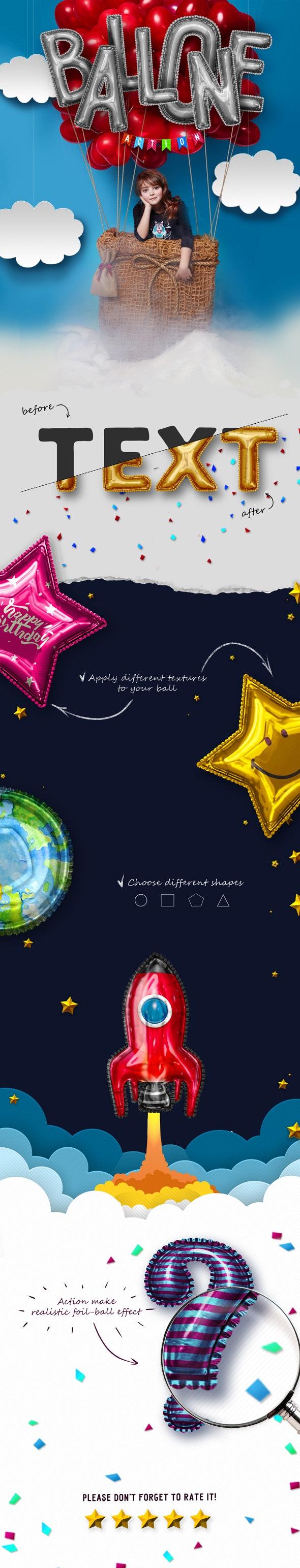 Balloon Photoshop Action - Utilities Actions