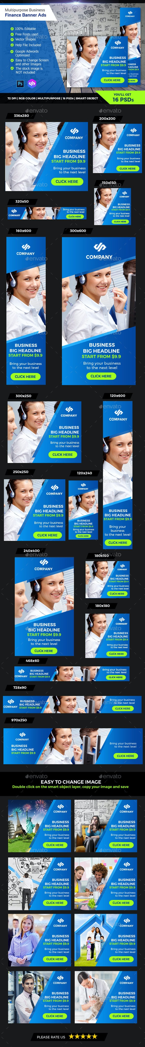 Support & Business Banner Ads - Banners & Ads Web Elements