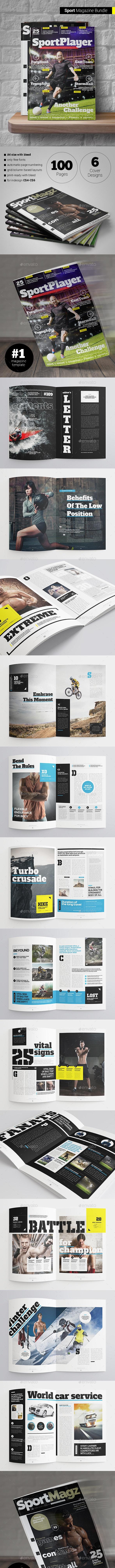 Sport Magazine Bundle (4 in 1) - Magazines Print Templates