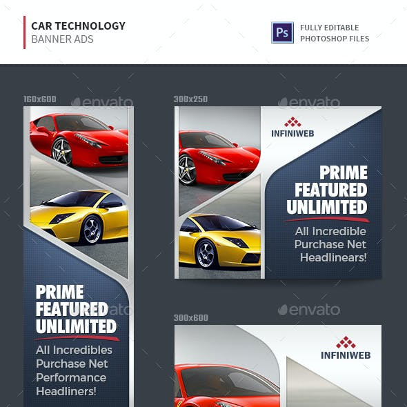 Car Technology Banner Ads