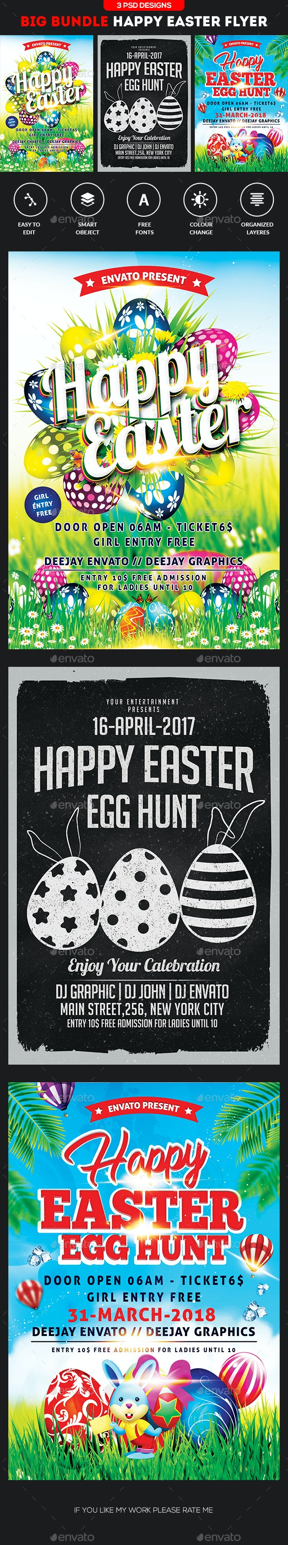 Easter Bundle Flyers - Clubs & Parties Events