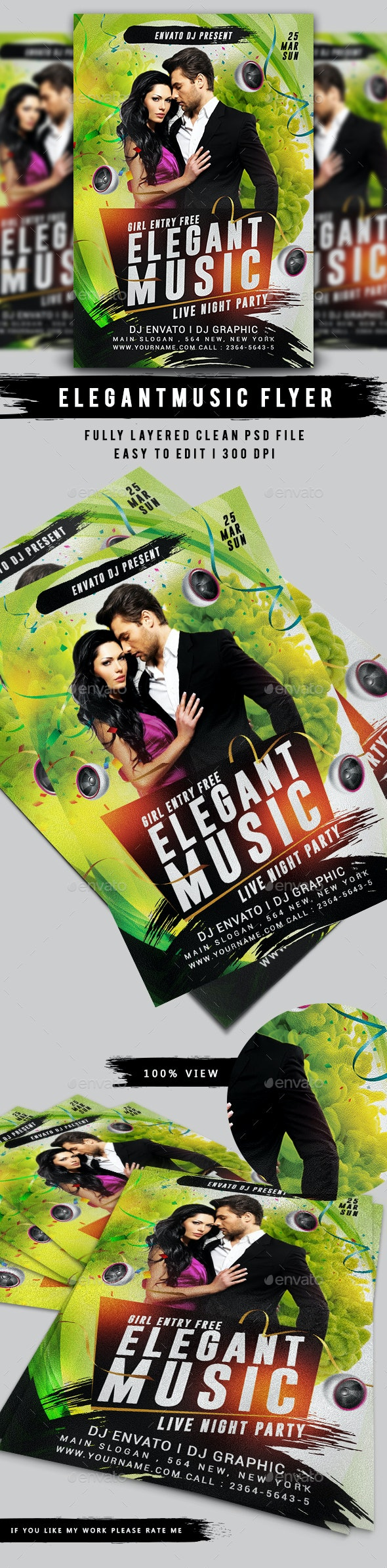 Elegant Music Party Flyer - Clubs & Parties Events