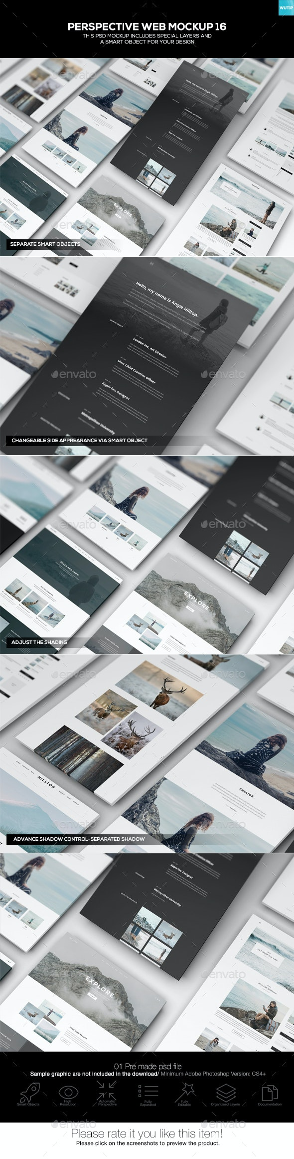 Perspective Web Mockup 16 - Website Displays