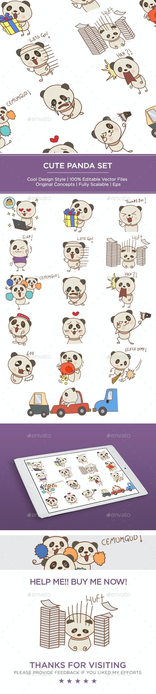 Panda Set - Vectors