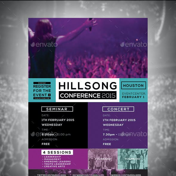 Hillsong Conference Flyer