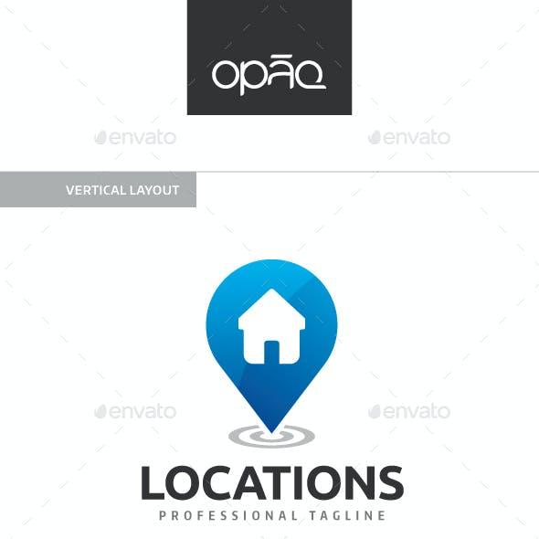 House Location Spot Logo