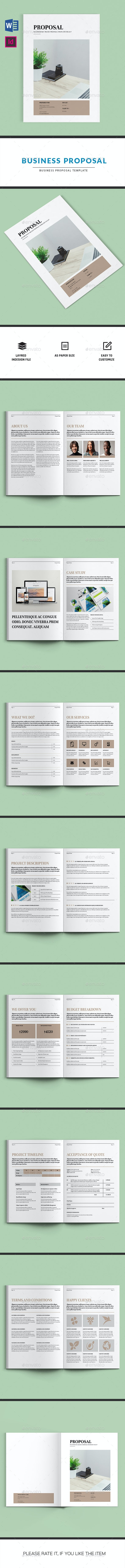 Business Proposal | Indesign & MS Word Template - Proposals & Invoices Stationery