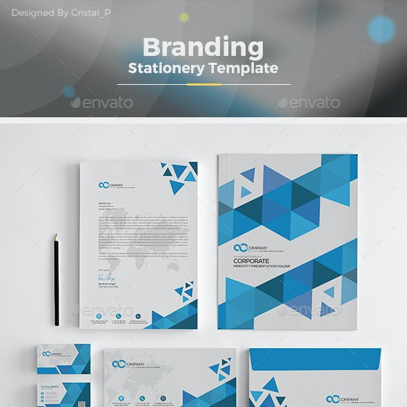 Abstract Stationery Template
